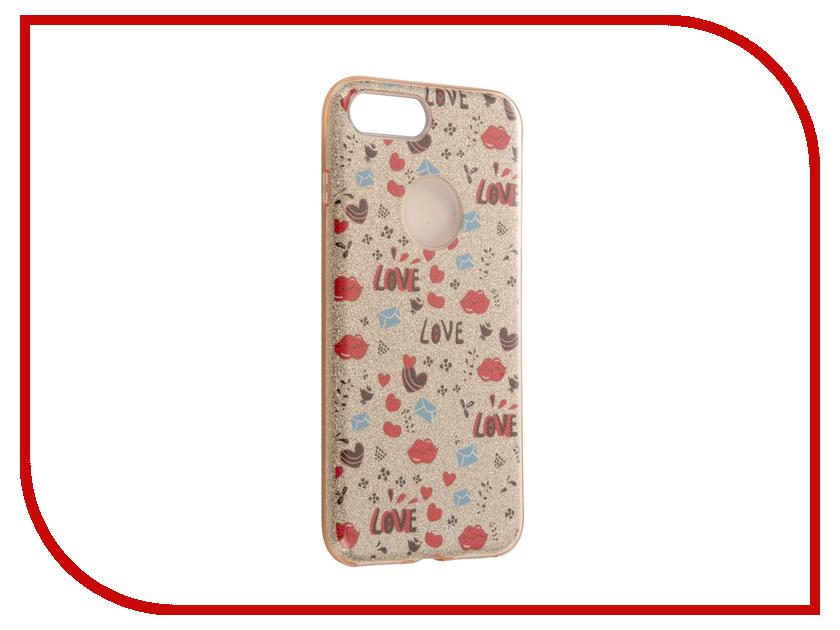 Аксессуар Чехол Ensida Love Series для APPLE iPhone 7 Plus Gold ENS7100002