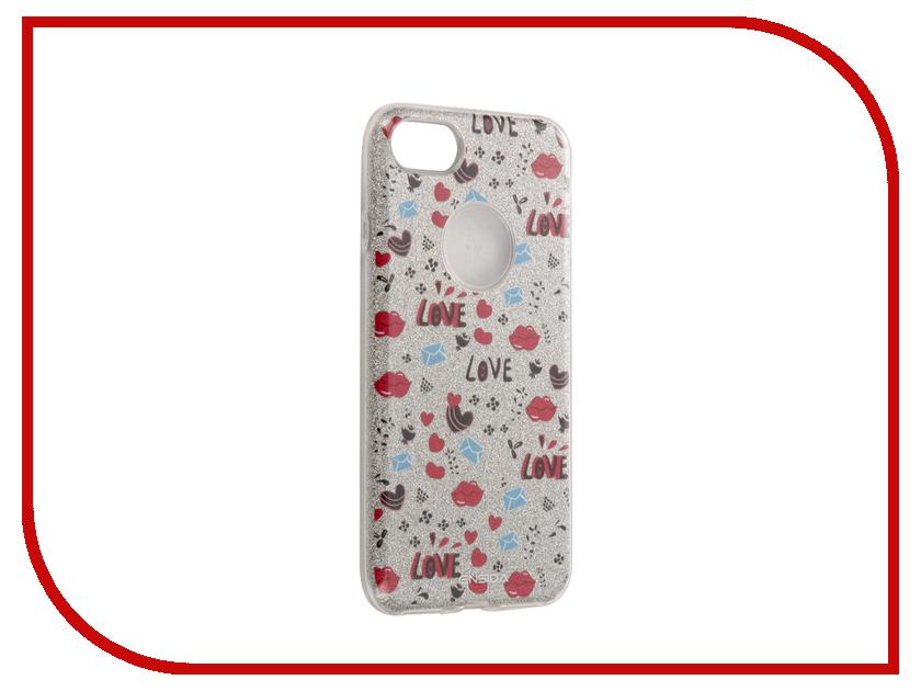 Ensida - Аксессуар Чехол Ensida Love для APPLE iPhone 7 Silver ENS701001