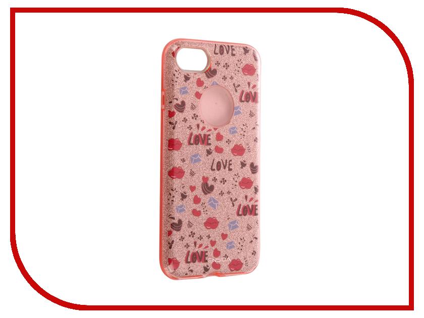Аксессуар Чехол Ensida Love для APPLE iPhone 7 Rose Gold ENS701003