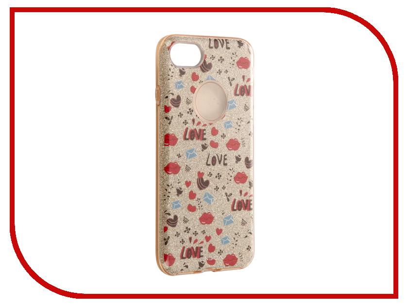 Аксессуар Чехол Ensida Love для APPLE iPhone 7 Gold ENS701002