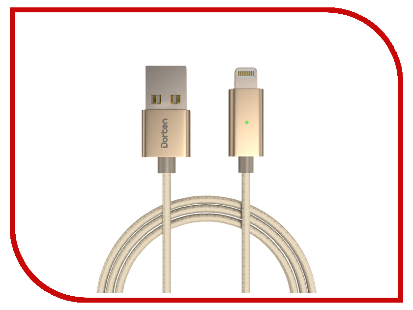 Аксессуар Dorten Smart LED USB - Lightning iPhone/iPad/iPad mini/iPod Gold DN303101 аксессуар pineng pn 305 usb lightning gold