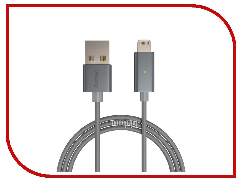 Аксессуар Dorten Smart LED USB - Lightning iPhone/iPad/iPad mini/iPod Space Grey DN303100