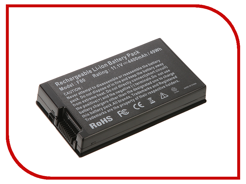 Аккумулятор 4parts LPB-F80 для Asus F50/F80/F81/F83/X61/X80/X82/X85 Pro63D Series 10.8V 4400mAh A32-F80A/A32-F80H аккумулятор для ноутбука oem 5200mah asus n61 n61j n61d n61v n61vg n61ja n61jv n53 a32 m50 m50s n53s n53sv a32 m50 a32 n61 a32 x 64 33 m50 n53s n53 a32 m50 m50s n53s n53sv a32 m50