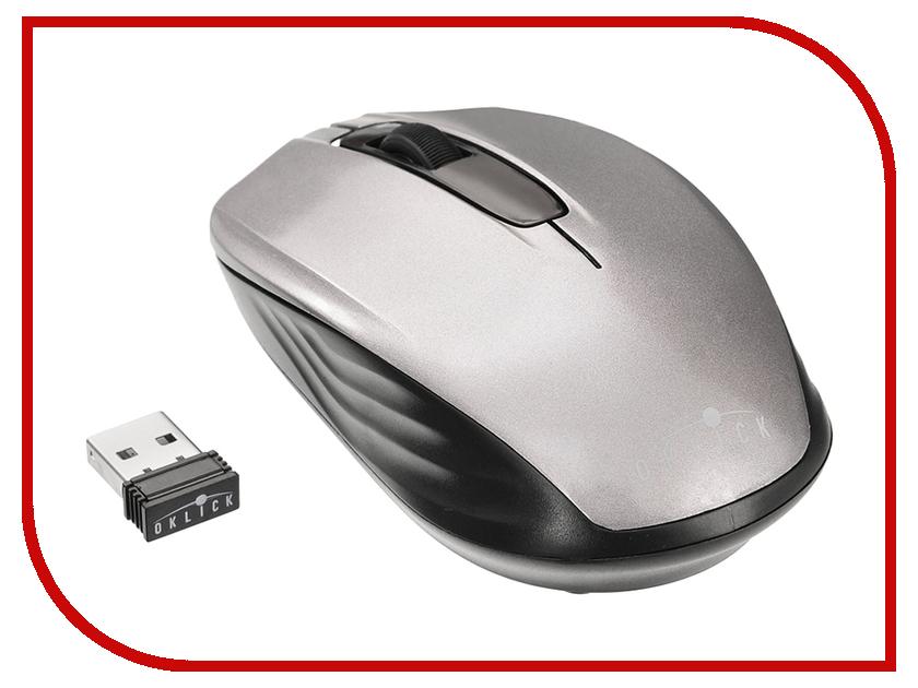 Мышь беспроводная Oklick 475MW Black-Grey