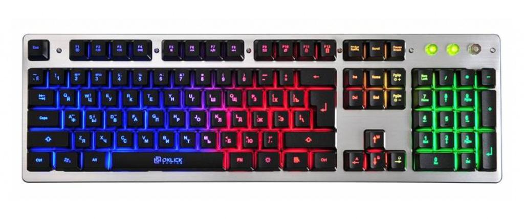 лучшая цена Клавиатура Oklick 770G Grey-Black