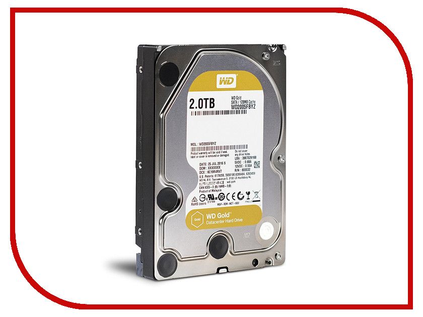 Жесткий диск 2Tb - Western Digital WD Gold WD2005FBYZ жесткий диск 4tb western digital gold wd4002fyyz