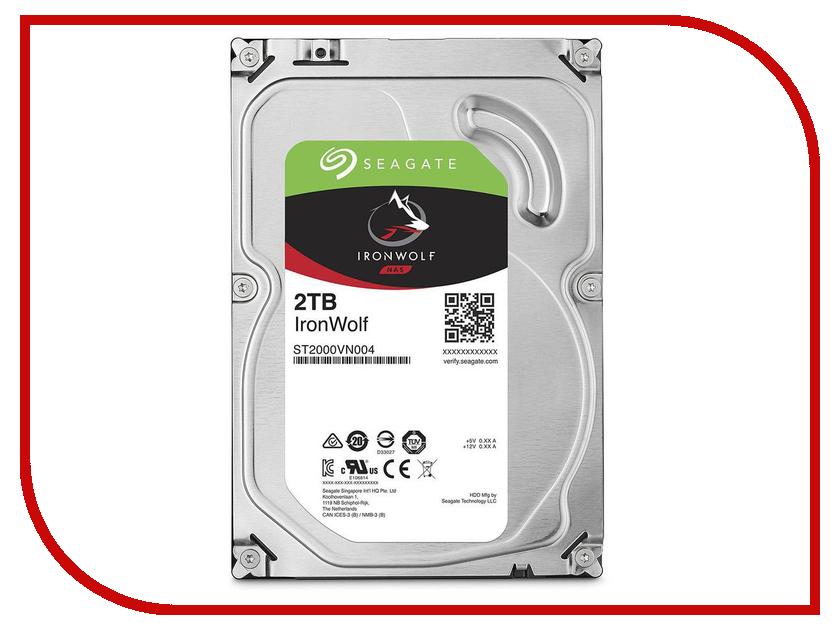 Жесткий диск 2Tb - Seagate IronWolf NAS ST2000VN004 жесткий диск 4tb seagate nas st4000vn000