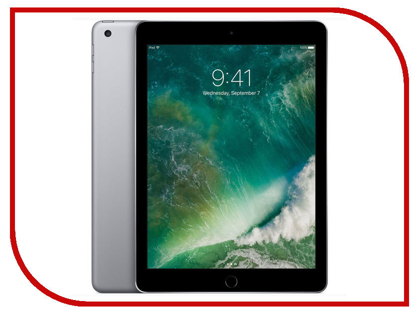 Планшет APPLE iPad 2017 9.7 Wi-Fi 32Gb Space Grey MP2F2RU/A планшет apple ipad wi fi 32gb gold золотой 9 7 retina display air 2 apple