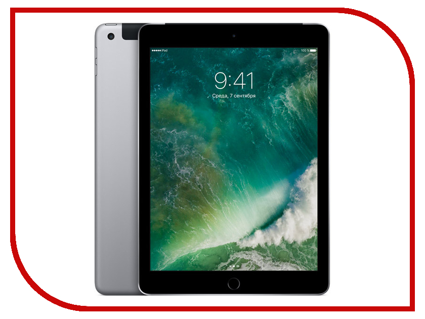 Планшет APPLE iPad 2017 9.7 Wi-Fi + Cellular 32Gb Space Grey MP1J2RU/A планшет apple ipad wi fi 32gb gold золотой 9 7 retina display air 2 apple