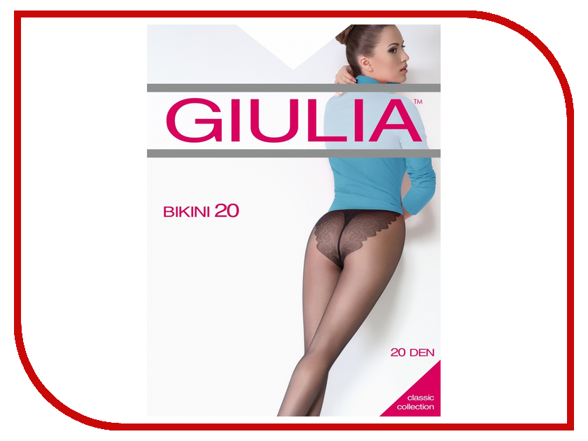 Колготки Giulia Bikini размер 4 плотность 20 Den Nero