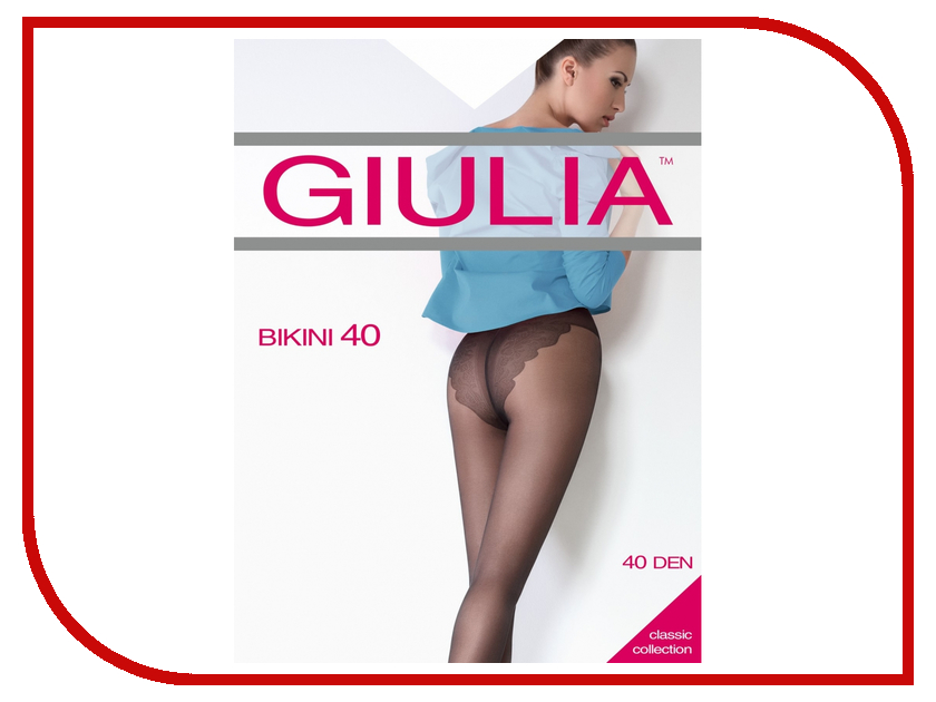 Колготки Giulia Bikini размер 4 плотность 40 Den Playa колготки giulia колготки фантазия модель monica 02