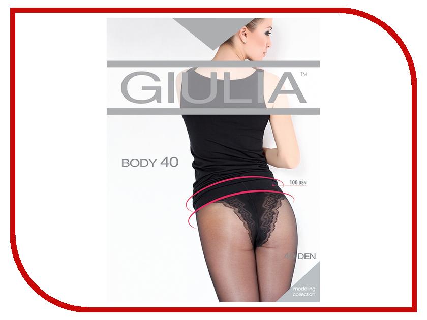 Колготки Giulia Body размер 4 плотность 40 Den Nero колготки 40 den беж giulia колготки 40 den беж