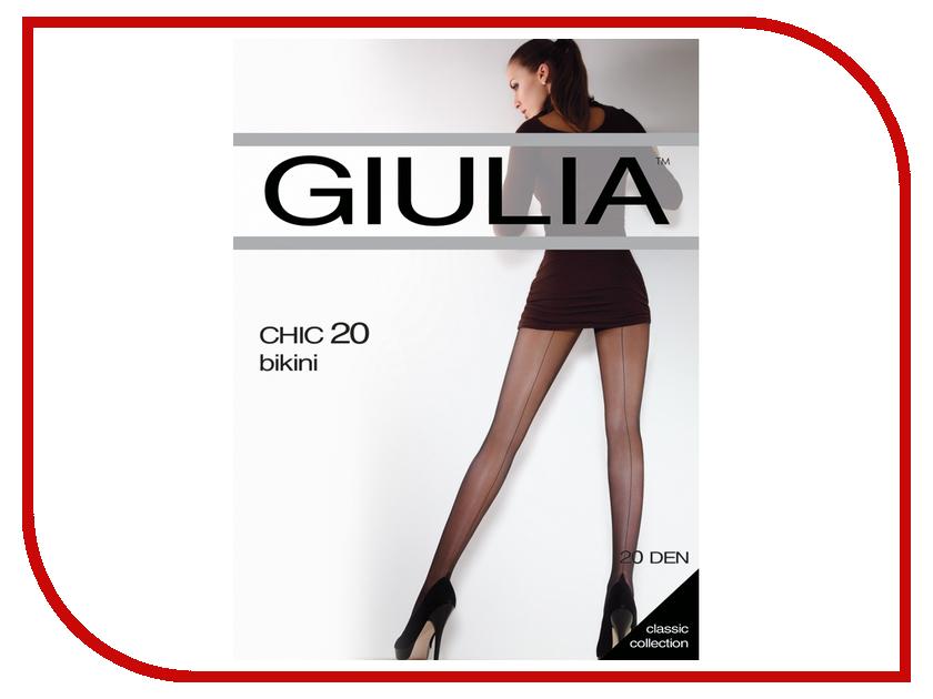 Колготки Giulia Chic размер 4 плотность 20 Den Nero игрушка bairun корабль y13436001