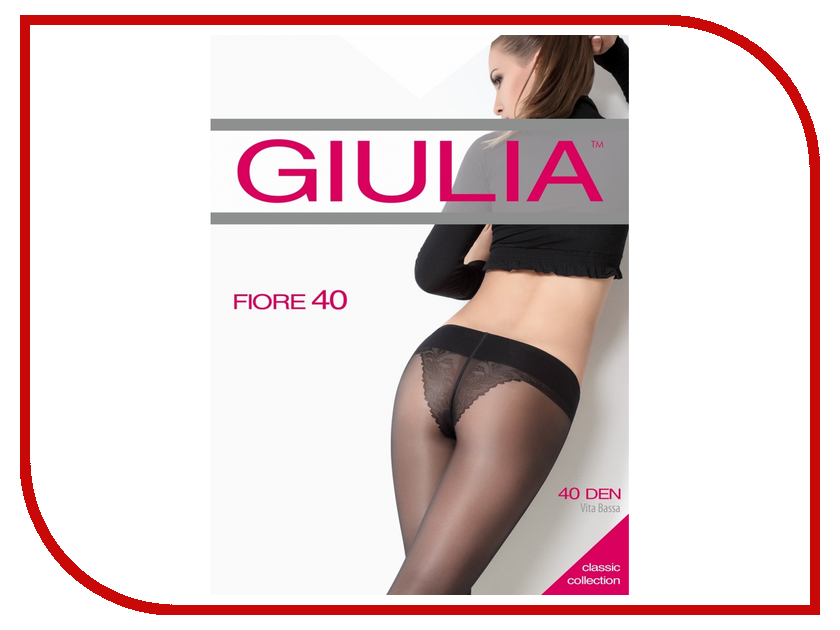 Колготки Giulia Fiore Bikini размер 4 плотность 40 Den V.B. Daino колготки giulia колготки фантазия модель monica 02