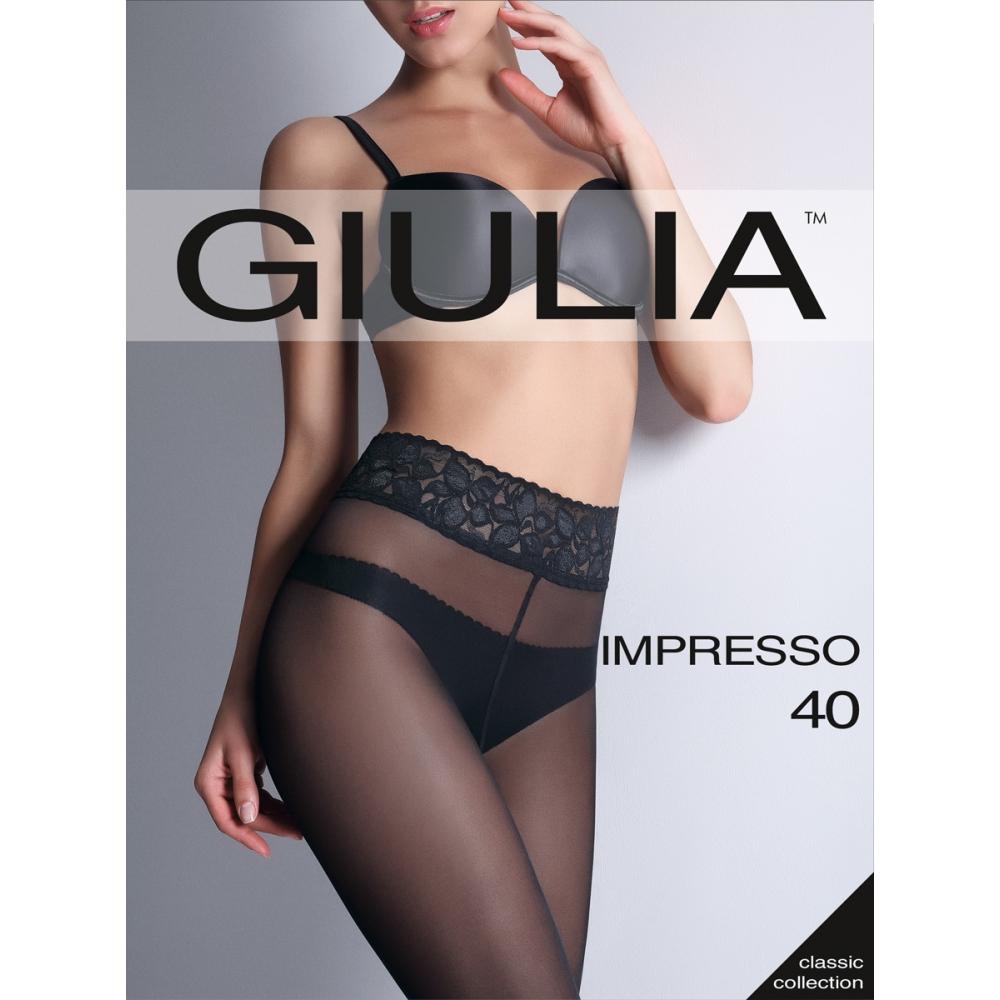 Колготки Giulia Impresso размер 3 плотность 40 Den Nero колготки 40 den белый giulia