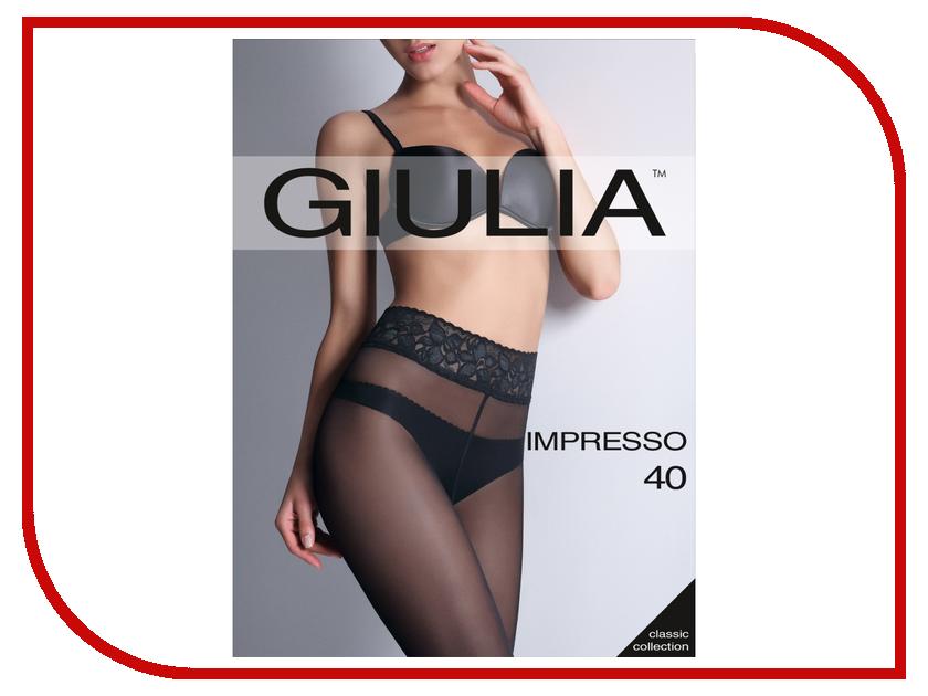 Колготки Giulia Impresso размер 4 плотность 40 Den Nero колготки giulia колготки классика модель impresso 20