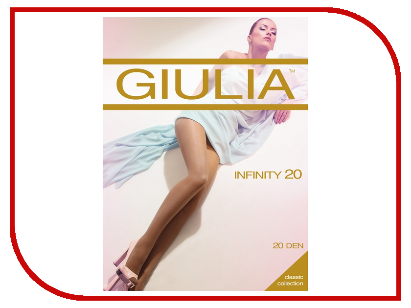 Колготки Giulia Infinity размер 4 плотность 20 Den Nero