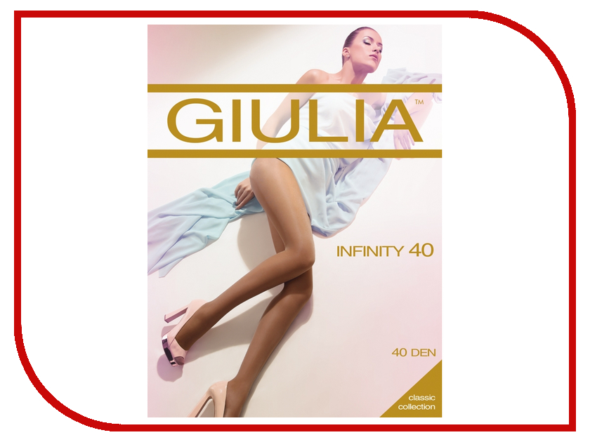 Колготки Giulia Infinity размер 4 плотность 40 Den Nero