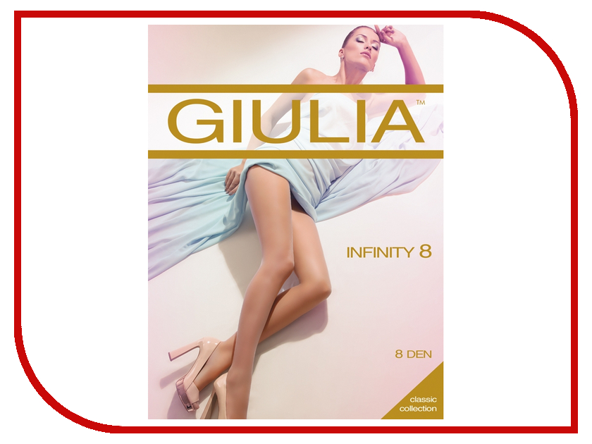 Колготки Giulia Infinity размер 4 плотность 8 Den Daino колготки giulia колготки классика модель infinity 8