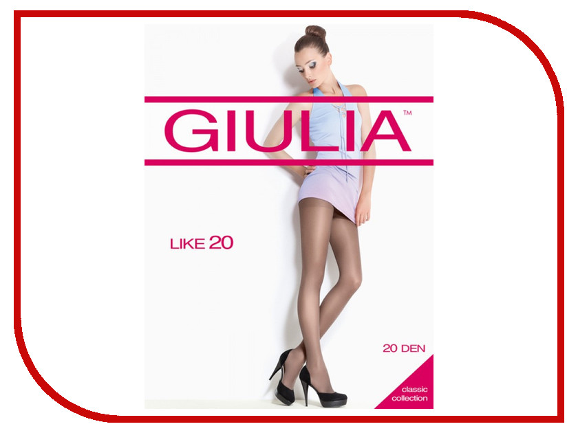 Колготки Giulia Like размер 4 плотность 20 Den Nero колготки giulia колготки классика модель toe 15