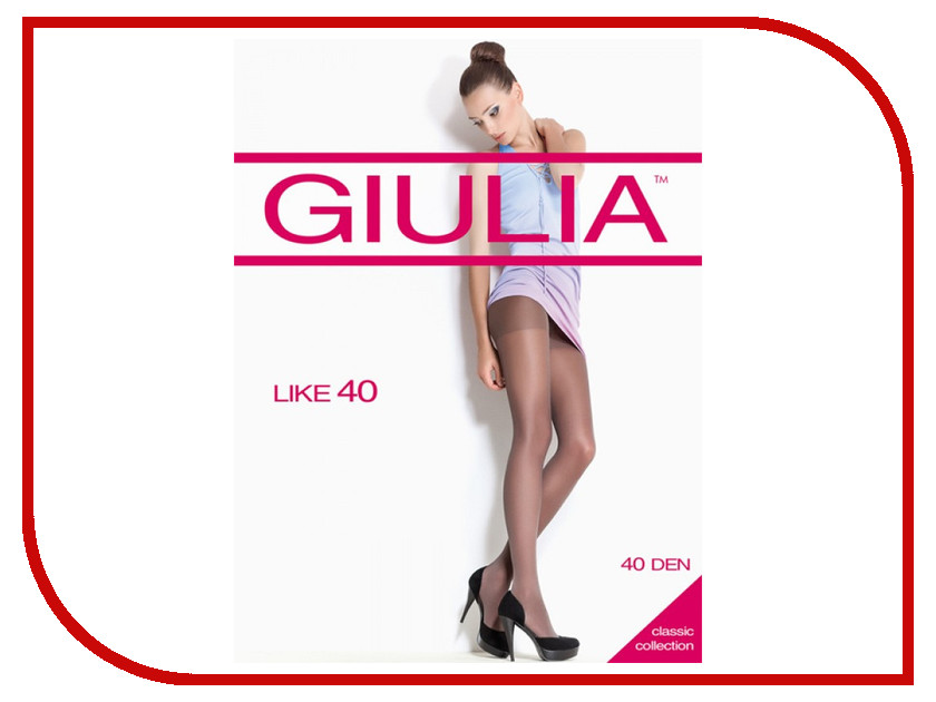 Колготки Giulia Like размер 3 плотность 40 Den Nero колготки giulia maya размер 3 плотность 40 den nero