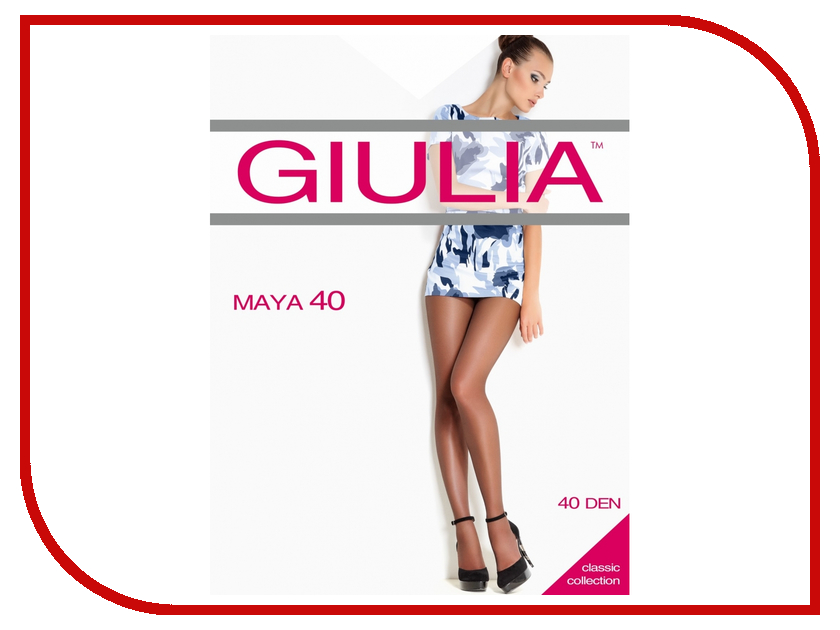 Колготки Giulia Maya размер 5 плотность 40 Den Playa колготки giulia maya размер 3 плотность 40 den playa