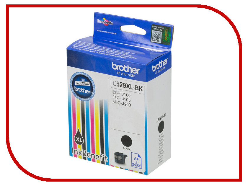 Картридж Brother LC529XLBK Black для DCP-J100/J105/J200 12 pieces lot refillable ink cartridge for brother lc549 545 for brother dcp j100 mfc j200 j105 printers