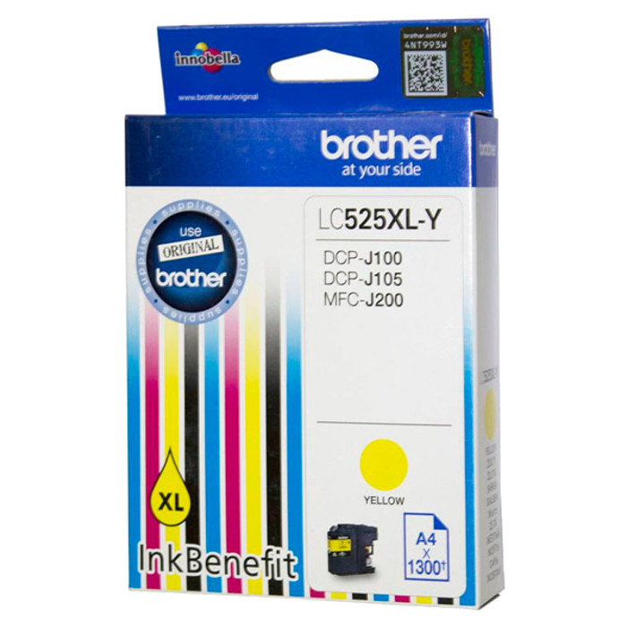 Картридж Brother LC525XLY Yellow для DCP-J100/J105/J200