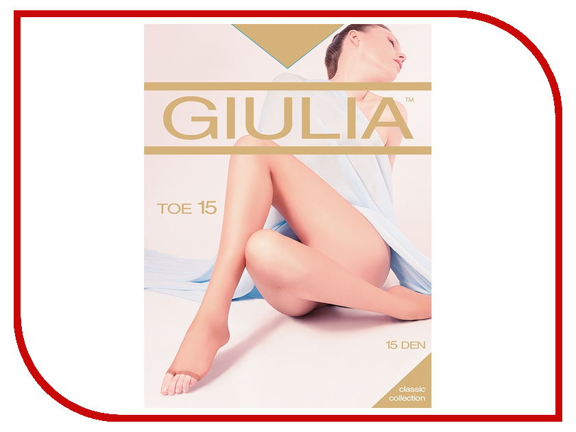 Колготки Giulia TOE размер 4 плотность 15 Den Daino колготки giulia колготки классика модель toe 15