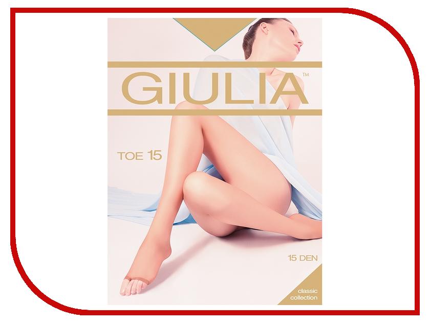 Колготки Giulia TOE размер 4 плотность 15 Den Nero