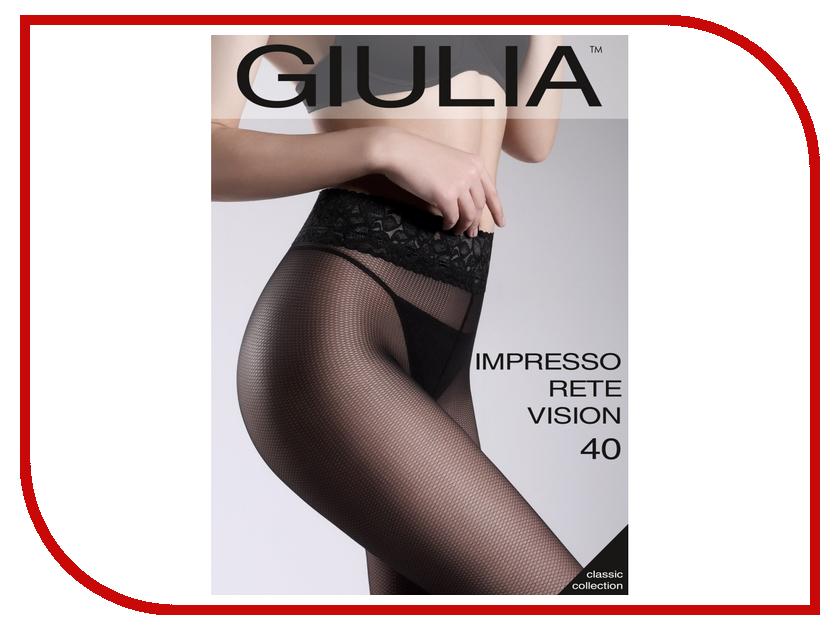 Колготки Giulia Impresso Rete Vision размер 4 плотность 40 Den Nero колготки giulia колготки фантазия модель rete vision 01