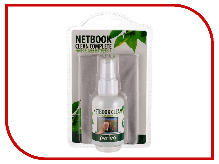 Аксессуар Набор Perfeo Netbook Clean 50ml + Microfiber Slim PF-S+T/MFSL