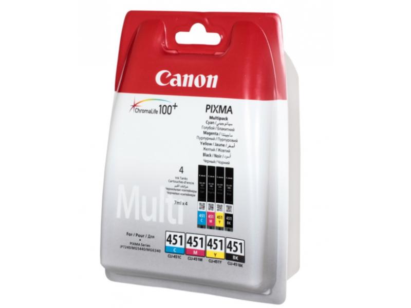 Картридж Canon CLI-451C/M/Y/Bk 6524B004 Multicolor для iP7240/MG canon cli 451c голубой