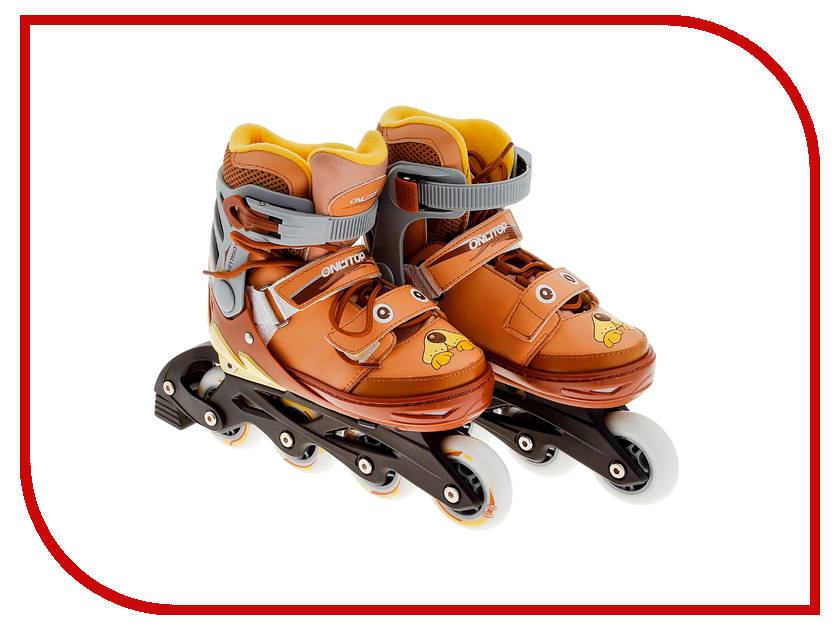 Коньки Onlitop ABEC-5 35-38 Brown 869408 коньки onlitop abec 5 33 36 red 119280
