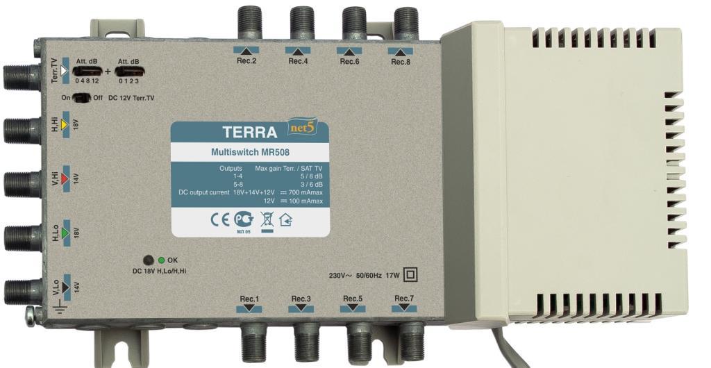 Мультисвитч Terra MR508