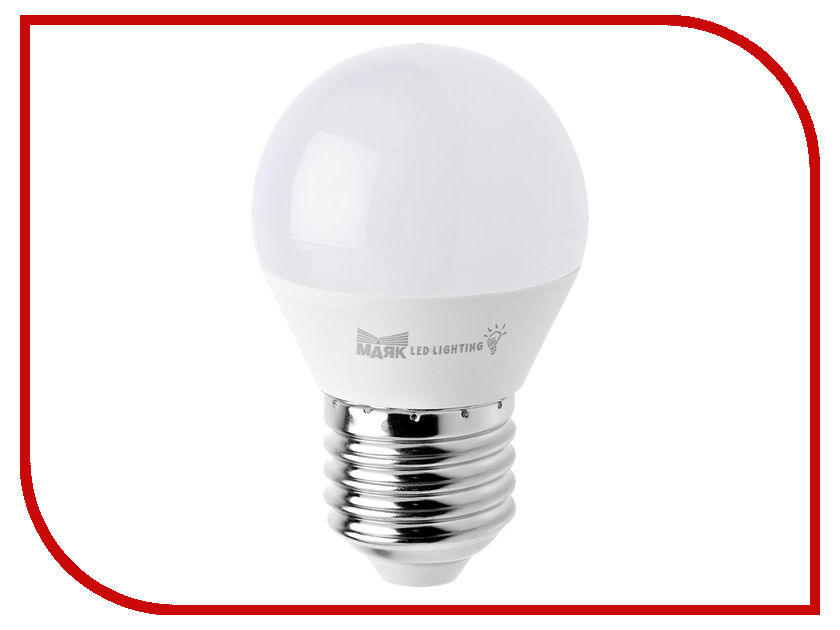 Лампочка Маяк LB-G45-E27/6W/3000-001 шар