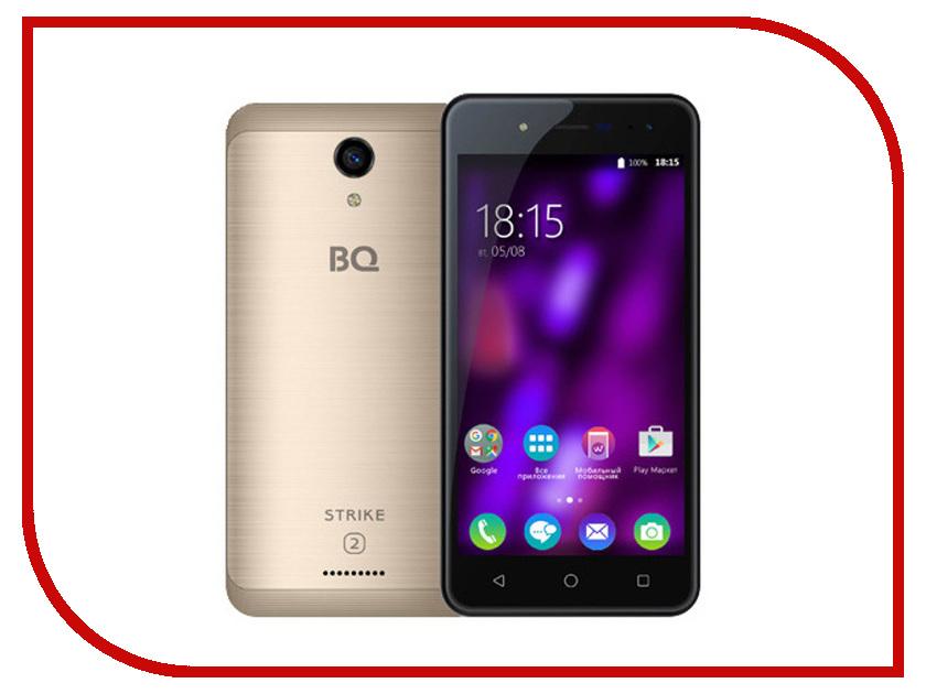 Сотовый телефон BQ BQ-5057 Strike 2 Gold Matted сотовый телефон bq bq 5057 strike 2 gold matted