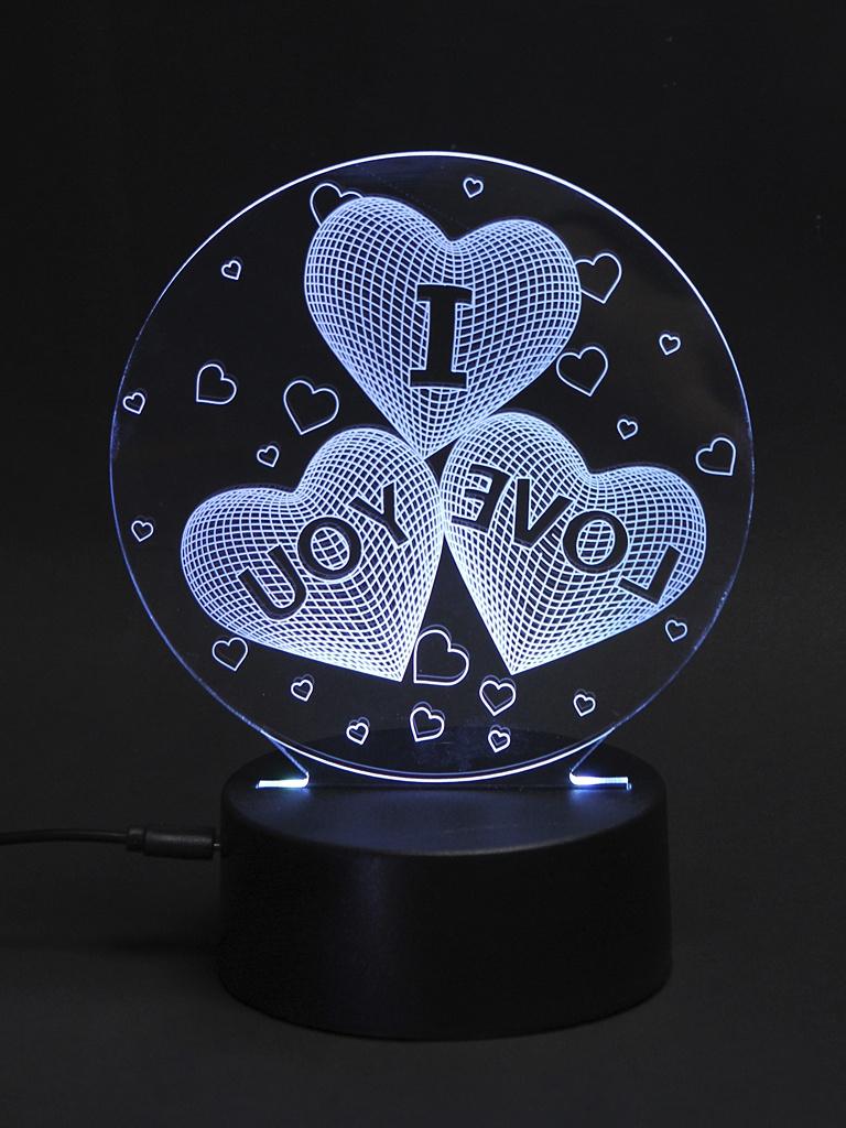 3D лампа 3d Lamp Люблю тебя