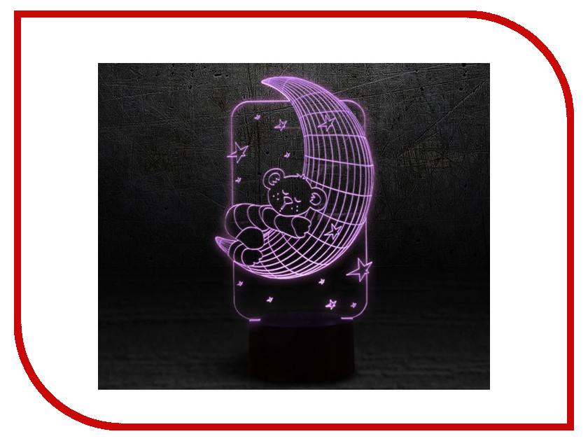 3D лампа 3d Lamp Мишка на луне<br>