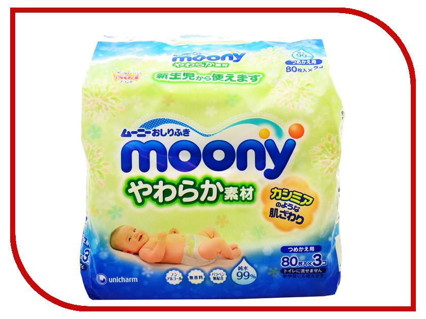 Салфетки Moony 3х80шт 4903111-181070