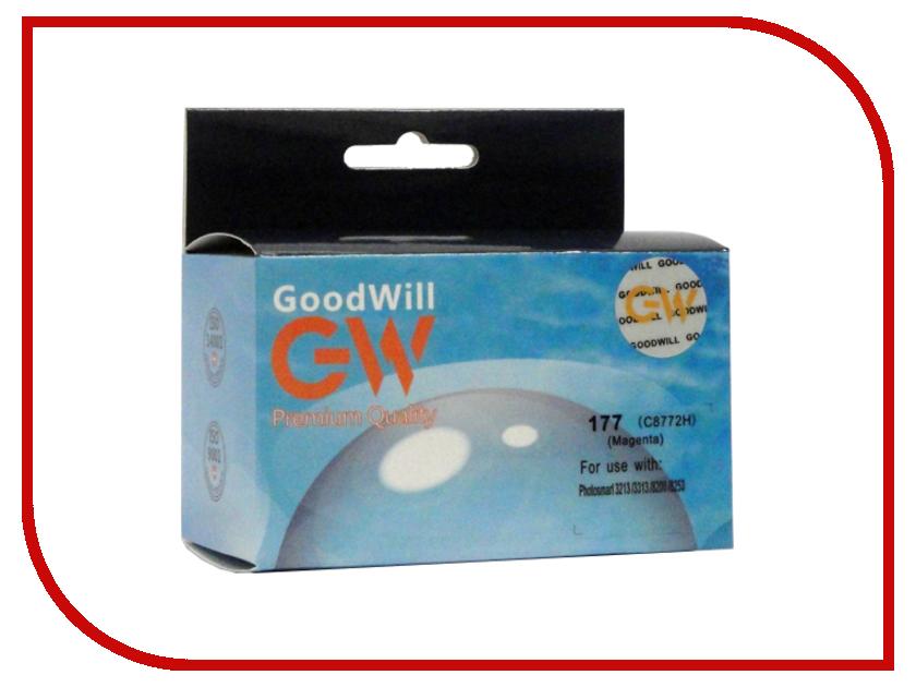 Картридж GoodWill GW-C8772HE №177 Magenta для НР Photosmart 8253/3213/3313