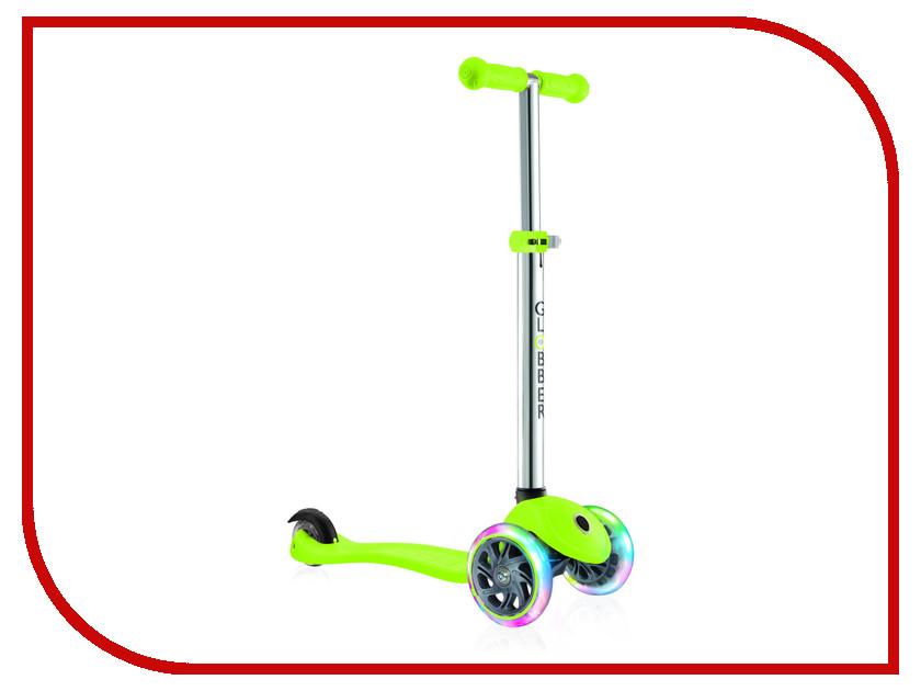 Самокат Y-SCOO Globber Primo Plus Titanium Neon Green со светящимися колесами самокат 3 х колесный globber globber трехколесный самокат со светящимися колесами primo plus titanium neon bue