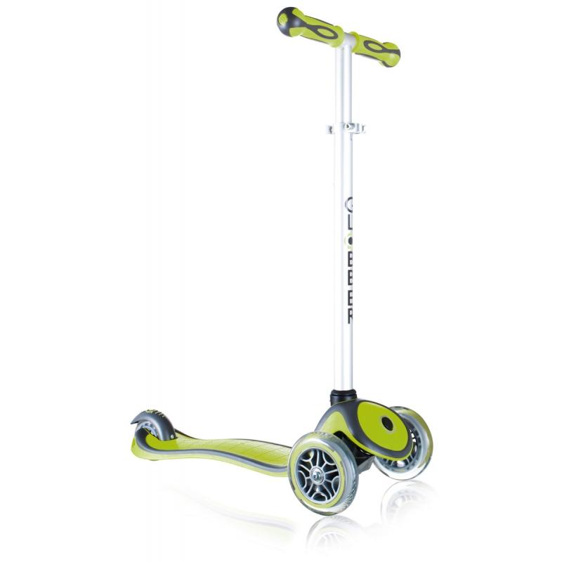 Самокат Y-Scoo Globber Primo Plus Green со светящимися колесами