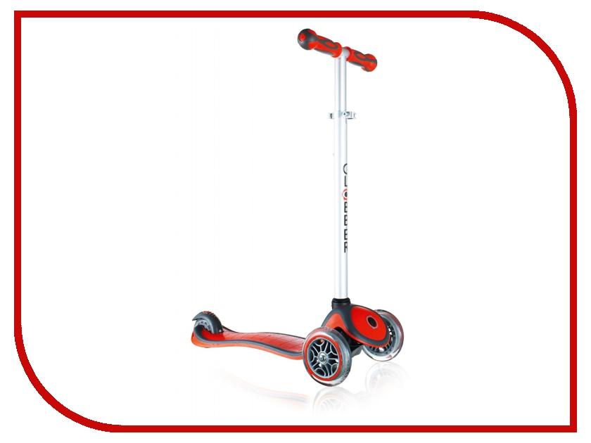 Самокат Y-SCOO Globber Primo Plus Red со светящимися колесами трехколесные самокаты funny scoo pony cо светящимися колесами