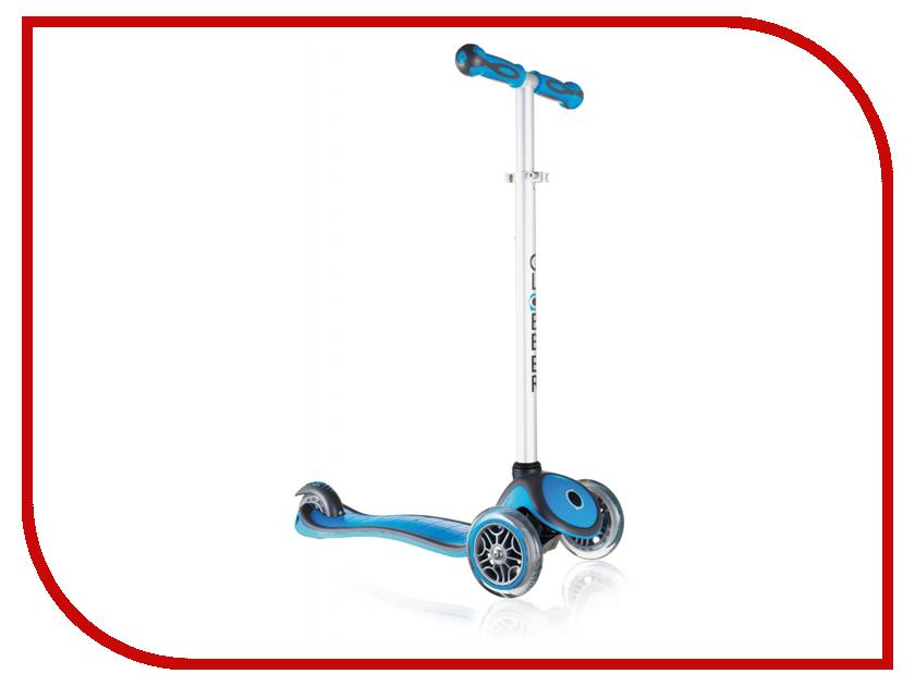 Самокат Y-SCOO Globber Primo Plus Cyan Blue со светящимися колесами трехколесные самокаты funny scoo pony cо светящимися колесами