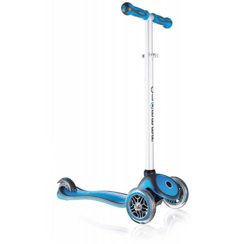Самокат Y-Scoo Globber Primo Plus Cyan Blue со светящимися колесами самокат y scoo globber primo fantasy big flowers neon pink со светящимися колесами