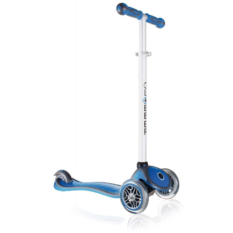 Самокат Y-Scoo Globber Primo Plus Dark Blue со светящимися колесами самокат y scoo globber primo fantasy big flowers neon pink со светящимися колесами