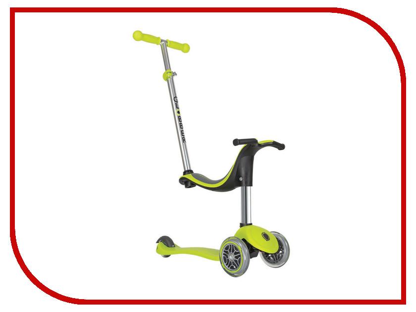 Самокат Y-SCOO Globber EVO 4 in 1 Green со светящимися колесами самокат y scoo mini jump&go pink со светящимися колесами