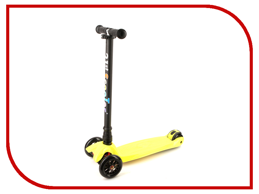Самокат 21st Scooter SKL-L-01 Yellow alouette remote control electric skateboard scooter maple wood electric board longboard hub motor dual drive lg battery