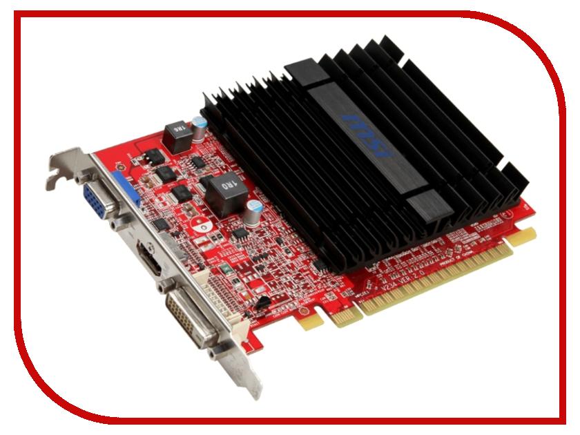 Видеокарта MSI Radeon R5 230 625Mhz PCI-E 2.1 1024Mb 1000Mhz 64 bit DVI HDMI HDCP R5 230 1GD3H LP